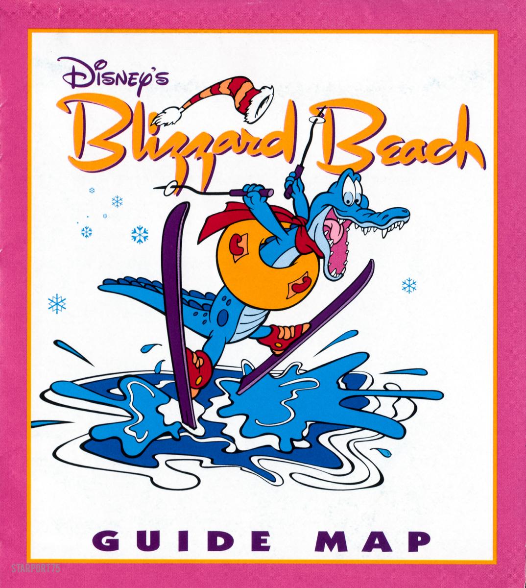 Disney S Blizzard Beach Guide Map 1995 Starport75